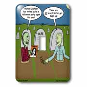 Halloween - Zombies are Invited to Michael Jacksons Party Light Switch Cover