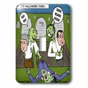 Halloween - Zombie Practical Jokes - Clinton and Nixon Masks Light Switch Cover
