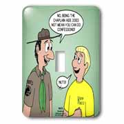 KNOTS cartoon - Scout confession and the chaplain aide Light Switch Cover