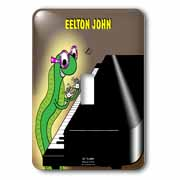 Eelton John the piano player Light Switch Cover