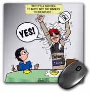 Indianapolis 500 Winner Breakfast Faux Pas aka Milk Accident Mouse Pad