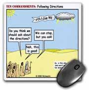 Ten Commandments, Following Directions Mouse Pad