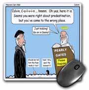 Calvin - Heaven Can Wait Mouse Pad