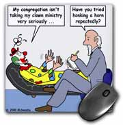 Pastor Problems with Clown Ministry Mouse Pad