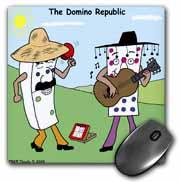 The Domino Republic Mouse Pad