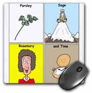 Parsley Sage Rosemary and Time Mouse Pad