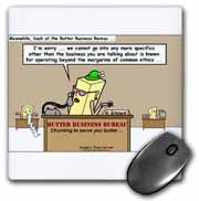 Butter Business Bureau Mouse Pad