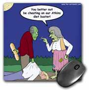 Halloween - Zombie on Atkins Diet Mouse Pad