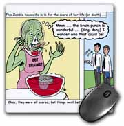 Halloween - Zombie Punch and the Religious Visitors Mouse Pad