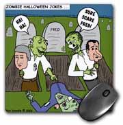Halloween - Zombie Practical Jokes - Clinton and Nixon Masks Mouse Pad