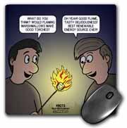 Knots Cartoon - Burnt Marshmallow smores - yum Mouse Pad