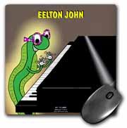 Eelton John the piano player Mouse Pad