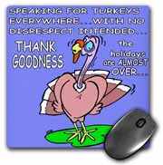 Ira Monroes Grateful Holiday Turkey Mouse Pad
