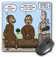 Dr. Jane Goodalls 50th anniversary at GDI - monkey business Mouse Pad