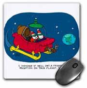 Nelson Dewey - Alien Craft Resembles Santas Sleigh Mouse Pad