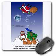 Larry Miller - Santa Takes Advantage of His Diving Lessons Mouse Pad