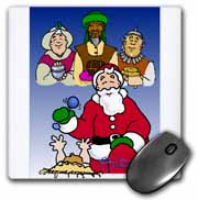Larry Miller - Tribute to the Baby Jesus by the 3 Wisemen and Santa Mouse Pad
