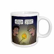 Knots Cartoon - Burnt Marshmallow smores - yum Mug