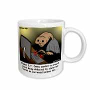 Religious Light Cartoon - Pastor ET Jones Alien Abduction Mug