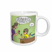 Jr. Knots Space Race with jet engine, rubber band and child prodigy scuot Mug