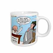 Heaven - St. Peter and the Golf Divot Replacement Sin of Omission Mug
