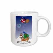Larry Miller - Santa Takes Advantage of His Diving Lessons Mug