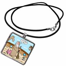 Not Much Glamour In Running Noah s Ark  Necklace With Pendant
