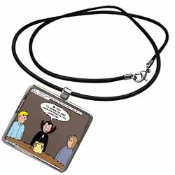 Dracula on the Church Outreach Committee Necklace With Pendant