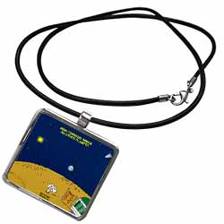 High Tornado Areas on Other Planets Trailer Parks Necklace With Pendant