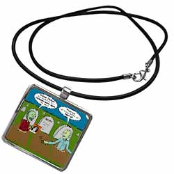 Halloween - Zombies are Invited to Michael Jacksons Party Necklace With Pendant
