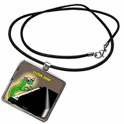 Eelton John the piano player Necklace With Pendant