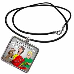 Training the Dog to Fetch Pizza Necklace With Pendant