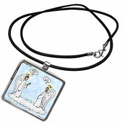 Heavenly Angels Question and Answer - Its All Good Necklace With Pendant