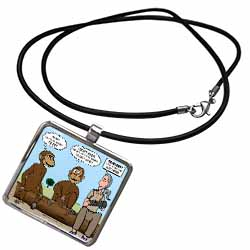 Dr. Jane Goodalls 50th anniversary at GDI - monkey business Necklace With Pendant