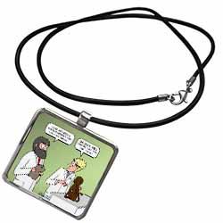 Rhesus or Reeses Monkey - laboratory dilemmas Necklace With Pendant