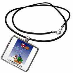 Larry Miller - Santa Takes Advantage of His Diving Lessons Necklace With Pendant