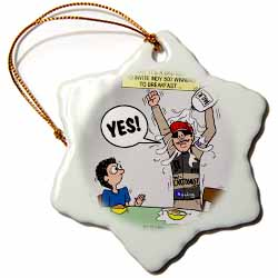 Indianapolis 500 Winner Breakfast Faux Pas aka Milk Accident Ornament