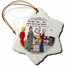 Ten Commandments 5 Honor Your Parents Ornament