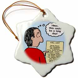 Difficult Pastor Call List Ornament