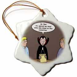 Dracula on the Church Outreach Committee Ornament