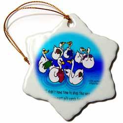 Larry Miller - Swan-Mart Gift Cards Ornament