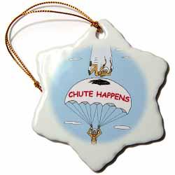 Chute Happens Ornament