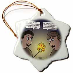 Knots Cartoon - Burnt Marshmallow smores - yum Ornament