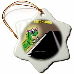 Eelton John the piano player Ornament