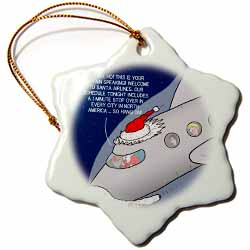 Santa Airlines Speedy Service Ornament