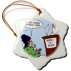 Heaven - St. Peter and the Cat Lady Ornament