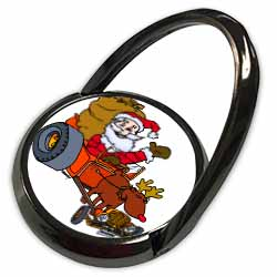 Nelson Deweys Reindeer Powered Santa Dragster Sleigh Phone Ring