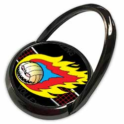 Blazing Angry Volleyball Crossing the Net Phone Ring