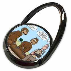 Dr. Jane Goodalls 50th anniversary at GDI - monkey business Phone Ring
