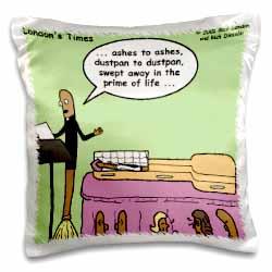 Broom Funerals  Pillow Case